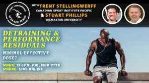Sport Performance Speaker Series SPSS -200327 - Stellingwerff Phillips