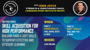 Sport Performance Speaker Series SPSS -200430 - Jenn Joyce