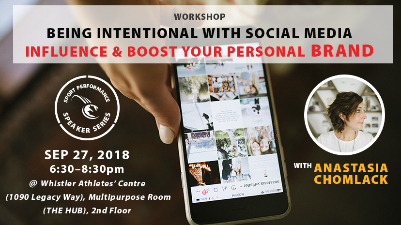 789ca2022394b3 Sport Performance Speaker Series  Being Intentional with Social Media to  Influence   Boost Your Personal Brand