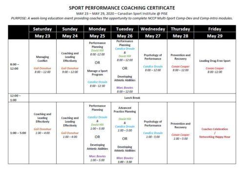 ICS 2020 Schedule